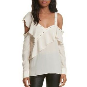 Veronica Beard Clementine Off the Shoulder Blouse